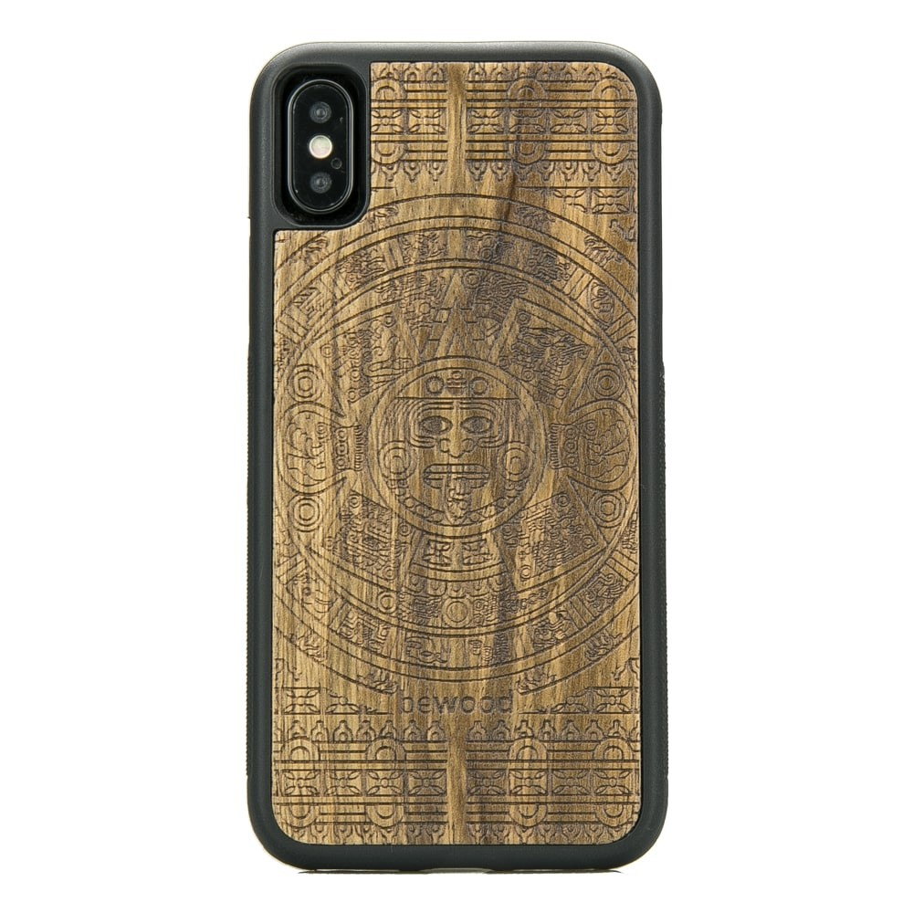 Apple Iphone X Aztec Calendar Frake Wood Case