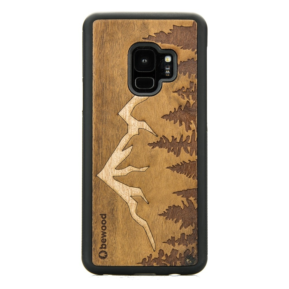 huge selection of 600f0 5dbb7 Samsung Galaxy S9 Mountains Imbuia Wood Case