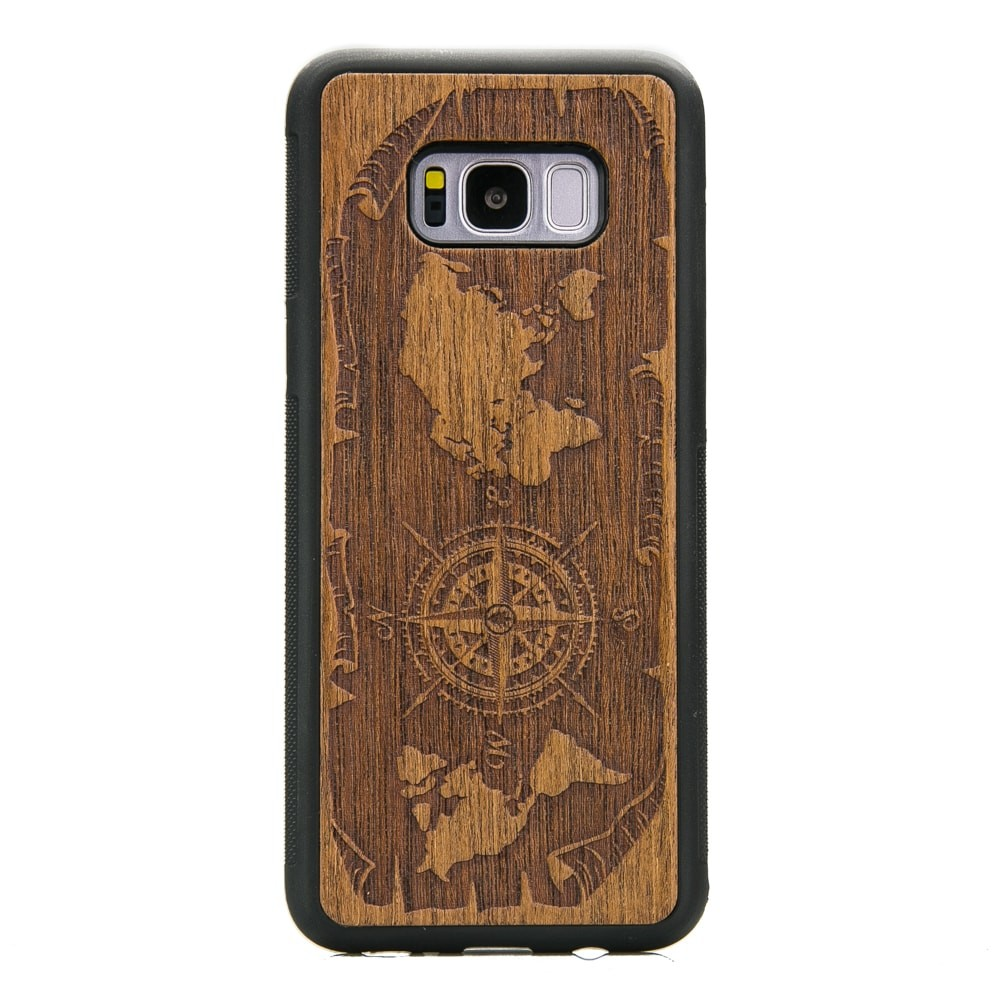 hot sale online c75e8 a4d85 Samsung Galaxy S8+ Compass Merbau Wood Case