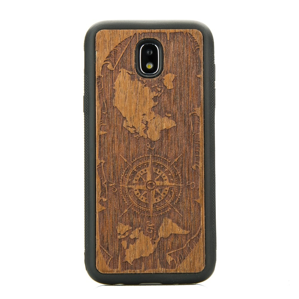 Samsung Galaxy J7 2017 Deer Imbuia Wood Case