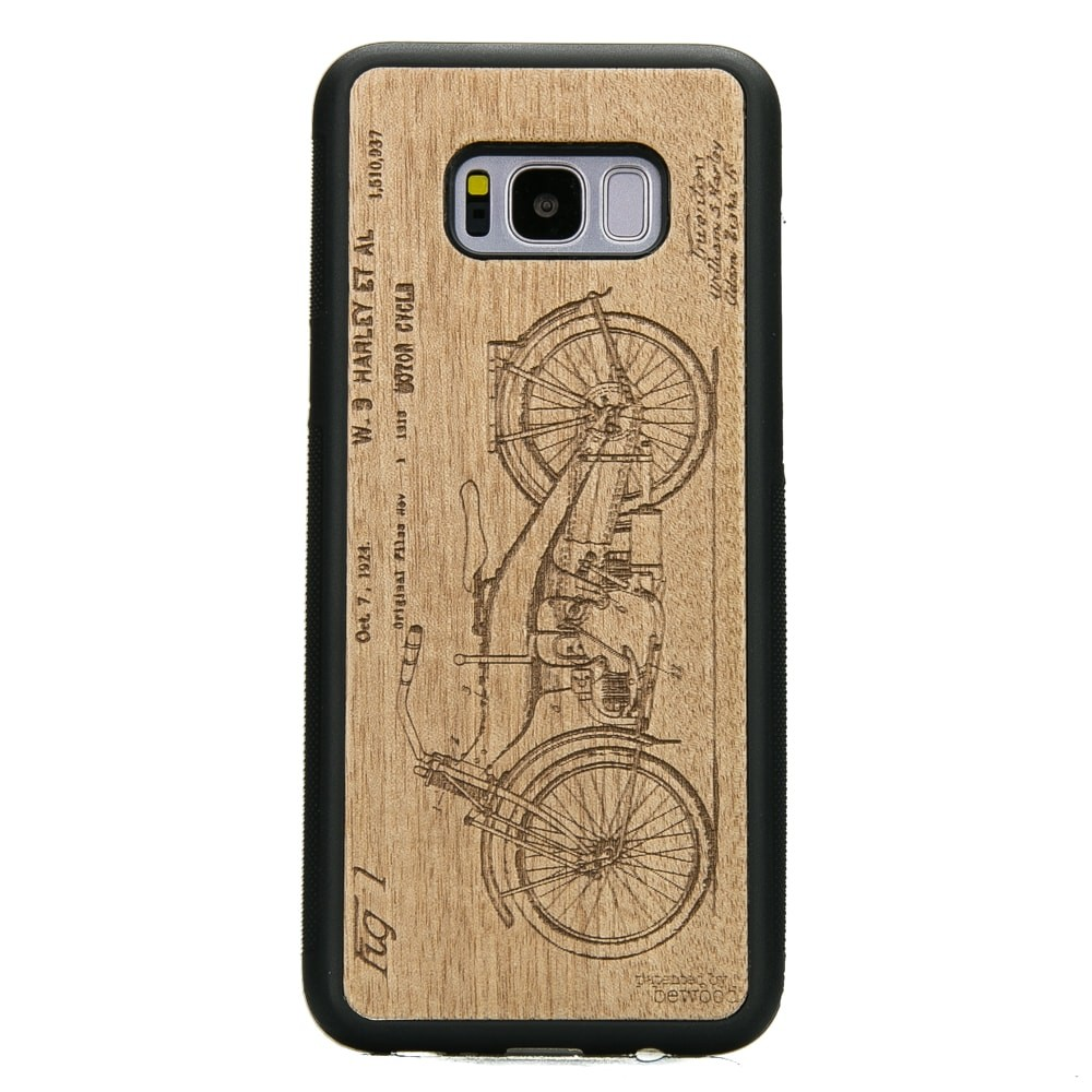 Samsung Galaxy S8+ Harley Patent Anigre Wood Case
